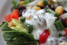 A Bountiful Kitchen: Southwest Salad with Cilantro Honey Lime Dressing
