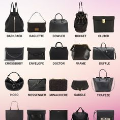 Free day shipping for a limited time. Description: Not sure what type of bag! Look here. Sold by Fast delivery, full service customer support. Types Of Purses, Types Of Handbags, Types Of Bag, Fashion Terms, Fashion Guide, Coach Handbags Outlet, Leather Bag Pattern, Fashion Dictionary, Fashion Vocabulary