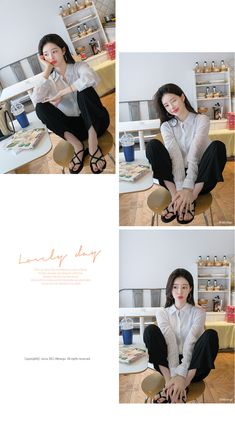 bs4431 Sheer Striped Shirt   ATTRANGS: Shop Korean fashion clothing, bags, shoes and accessories for women Shirt Blouses, Shirts, Korean Fashion, Beige, Clothing, Sleeves, Accessories, Shopping, Kleding