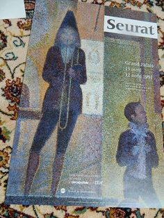 french poster. Exposition SEURAT  Affiche par vintagemadeinFRANCE