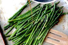 15 Minute Balsamic Brown Butter Roasted Asparagus   http://www.carlsbadcravings.com/15-minute-balsamic-brown-butter-roasted-asparagus/
