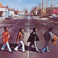 """Booker T & The MG's """"McLemore Avenue"""" album cover in deference to The Beatles' """"Abbey Road"""" album cover. - Stax Records (1961, Memphis) - Booker T & The MG's, Rufus Thomas, Carla Thomas, Otis Redding, Bar-Kays, Mar-Keys, Mable John, Sam & Dave, Eddie Floyd, Johnnie Taylor, William Bell, Albert King, Isaac Hayes, Little Milton, Soul Children, David Porter, Staple Singers, Kim Weston, The Dramatics, etc.  [2014-1230]"""