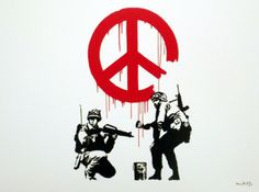 """sirmichaelvee: """" Banksy is easily the best graffiti artist around. Check out some more of my favorite banksy works. Graffiti Art, Art Banksy, Street Art Graffiti, Bansky, Banksy Tattoo, Protest Kunst, Protest Art, Banksy Prints, Logo Design Love"""