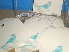 Shabby Chic Bird tags  set of 12 by PaperQuirks on Etsy, $8.50