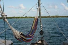 How to hang a hammock on a sailboat