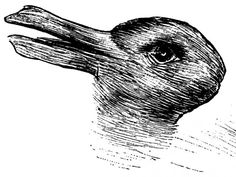 The more this picture switches from duck to rabbit or rabbit to duck, the more creative you are!