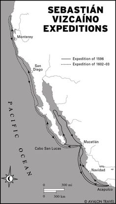 http://webpages.scu.edu/migrations/images_human/Vizcainomap.jpg Expeditions of Sebastián Vizcaíno