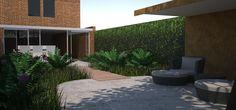 Render of small, luxurious city garden design
