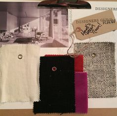 A splash of scarlet and fuchsia makes this monochrome mood board #DGraw