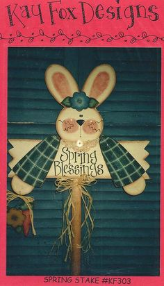 Spring Blessings Bunny Stake Pattern
