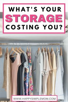 How much is your home storage space costing you? If you are exploring minimalism or simple living through decluttering, you may learn there is a significant cost savings, as the storage space in your home can be crazy expensive.