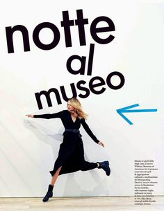 """""""Night at the Museum"""" Maud Welzen in Max Mara for ELLE Italy June 2015"""