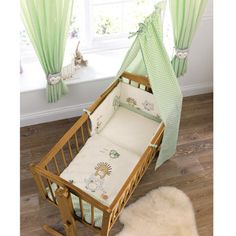 Olive & Henri Crib Set, £36.99 from Babies R Us, perfect for the gliding crib I want/the rocking crib Scott wants