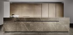Eggersmann | Unique Limestone Kitchen #kitchen #design #decor #architecture #modern #minimalist