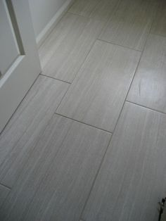 Grey Rectangle Tile For The Bathroom Floor