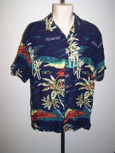 699a22db1 WINGO SIZE LARGE ALOHA HAWAII PALM TREE DESIGN HAWAIIAN SHIRT #WINGO #Hawaiian  Aloha Hawaii