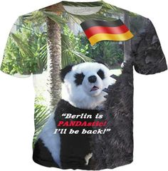 """""""Berlin is PANDAstic!"""" - Custom Classic T-Shirt - Your fashionable, flamboyant Souvenir from Berlin, Germany proves: You travel the World, and are really not a couch potato! You are a fashionista! You know what is cool! And yet You don't even have to bother to leave home! Neat statement available also in German, Spanish, Italian and French language!"""