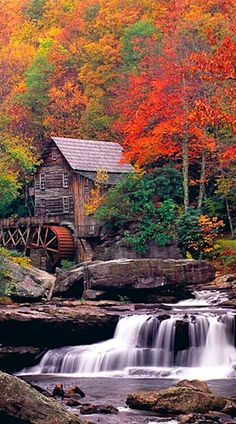 Glade Creek Grist Mill at Babcock State Park in Fayette County, West Virginia • photo: David Schultz on Flickr