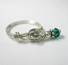 Personalized Birthstone Jewelry Birthstone Ring by holmescraft, $19.00 - I would love to get this with the kids' birth stones :)