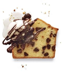 Pound Cake Recipes // Chocolate Chip Pound Cake with Chocolate-Coffee Liqueur Sauce Recipe