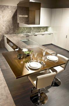 Evin en aktif yaşam alanı mutfak, doğal ahşap ile birleşince dekorasyonda büyük farklar yaratıyor!