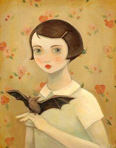 Porträt mit Haustier Bat / Large Drucken 11 x 14