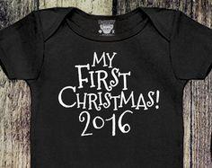 My First Christmas Onesie, Baby Girl Christmas Outfit, Baby Boy Christmas Outfit, Holiday Onesie, Baby's 1st Christmas T-Shirt, Holiday Tee