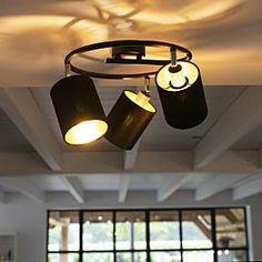 Shop for Modern Ceiling Lamp 3 Black - Lofty online! Electricity Logo, Interior Dorado, Ceiling Lamp, Ceiling Lights, Kitchen Wall Clocks, Restaurant Lighting, Candle Lamp, Modern Ceiling, Working Area