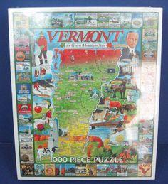 "NEW White Mountain Puzzles ""Vermont the Green Mountain State"" 1000 Piece Puzzle #WhiteMountain"