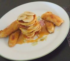 Banoffee French Toast Stack with Banana Fritters and Butterscotch Sauce