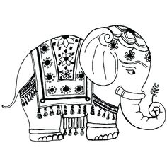 indian elephant coloring page coloring home Elephant Template, Elephant Outline, Thai Elephant, Elephant Pattern, Henna Elephant, Tribal Elephant Drawing, Indian Elephant Art, Mandala Elephant, Elephant Images