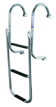 JIF - EQQ ~ 3-STEP TRANSOM LADDER STAINLESS 316 [EQQ] - $153.99 : Boat Ladders - Pontoon Boat Ladder - Dock Ladders for Less, Boat-Ladders-Store.com