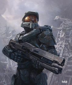 I have wasted my life playing every single halo game. When Halo 1 came out that was when I knew I was a video gamer Android Robot, Video Game Art, Video Games, Science Fiction, John 117, Halo Master Chief, Halo Game, Halo 3, Non Plus Ultra