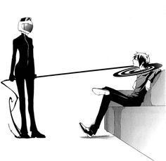 Celty and Izaya- she doesn't like him much...