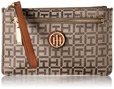 Tommy Hilfiger Wallet for Women Signature Wristlet, Tan Dark Chocolate >>> Click image for more details. Tommy Hilfiger Wallet, Tommy Hilfiger Handbags, Tommy Hilfiger Fashion, Serif, Signature Logo, Wallets For Women, Michael Kors, Chocolate, Dark