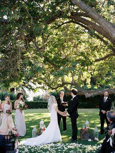 Elegant garden real wedding