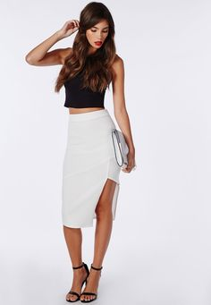 Slinky Midi Skirt Black - Skirts - Missguided | formal dress ...