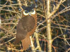 Great Horned Owl felt pattern at Downeast Thunder Farm