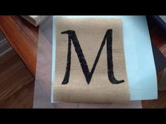 How To Easily Paint a Letter on Burlap - DIY Crafts Tutorial - Guidecentral - YouTube