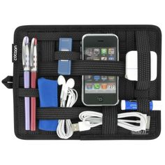 Grid-it - great idea for organising all those cables, chargers and usb sticks that rattle around my bags