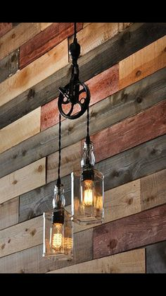 The Warehouser – Rustic Farmhouse Pendant Chandelier Pulley Lamp – Industrial Lighting – Factory Lighting - Flaschenzug Ideen Deco Luminaire, Factory Lighting, Rustic Lighting, Lighting Ideas, Farmhouse Lighting, Kitchen Lighting, Outdoor Lighting, Lighting Design, Vintage Industrial Lighting