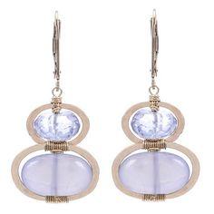 Dana Kellin Purple Quartz and Chalcedony Earrings