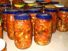 Slovak Recipes, Homemade Pickles, Meals In A Jar, Chutney, Kimchi, Preserves, Salsa, Mason Jars, Frozen