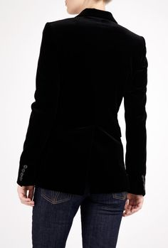 Black velvet blazer - one of my wardrobe staples for work and play! Black Wardrobe, Work Wardrobe, Wardrobe Staples, Black Velvet Blazer, Velvet Jacket, Velvet Fashion, Mommy Style, Material Girls, Work Attire