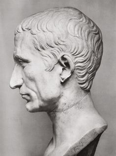 Gaius Julius Caesar. Profile. White marble. Time of Augustus. Total height 0,52 m. Height of the head 0,26 m. Inv. No. 713. Rome, Vatican Museums, Pius-Clementine Museum, Gallery of the Busts, 122