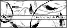 Decorative Inked Plants - Download  Photoshop brush http://www.123freebrushes.com/decorative-inked-plants/ , Published in #GrungeSplatter. More Free Grunge & Splatter Brushes, http://www.123freebrushes.com/free-brushes/grunge-splatter/ | #123freebrushes