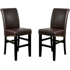 Fallon Set of 2 Bonded Leather Barstools with Nailhead Trim  found at @JCPenney