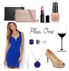 """Plus One"" by rebeccasybrant on Polyvore featuring Lulu*s, Miadora, Everlasting Gold, Liz Claiborne, Alberta Di Canio, Gorgeous Cosmetics, OPI and Riedel"