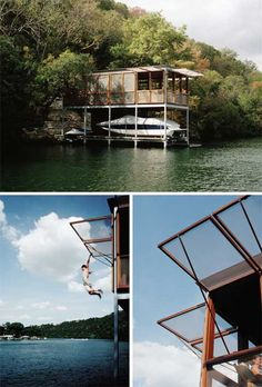 This prefabricated boathouse is a beautiful home for boat lovers. Designed by Andersson Wise Architects, the lake House is located on Lake Austin, and connected to the main residence by a 200 foot cable-stay suspension bridge crossing a deep ravine. The bridge provides a convenient access with a minimal impact on the landscape. Entering this …