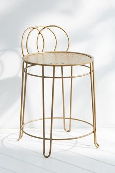 Shop Wire Loop Chair at Urban Outfitters today. We carry all the latest styles, colors and brands for you to choose from right here. Vanity Seat, Vanity Stool, Modern Vanity Table, Wire Chair, Metal Stool, Table Height, Bedroom Chair, Master Bedroom Design, Dream Bathrooms